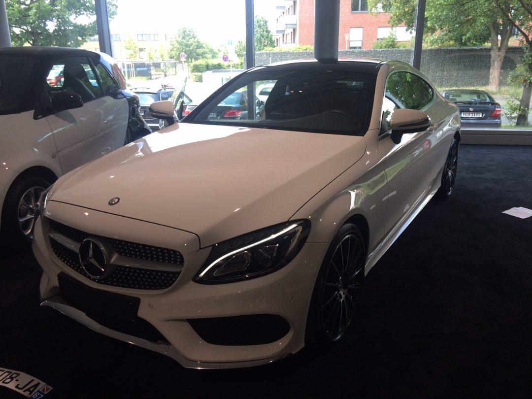 Mercedes Classe C180 Coupé blanche